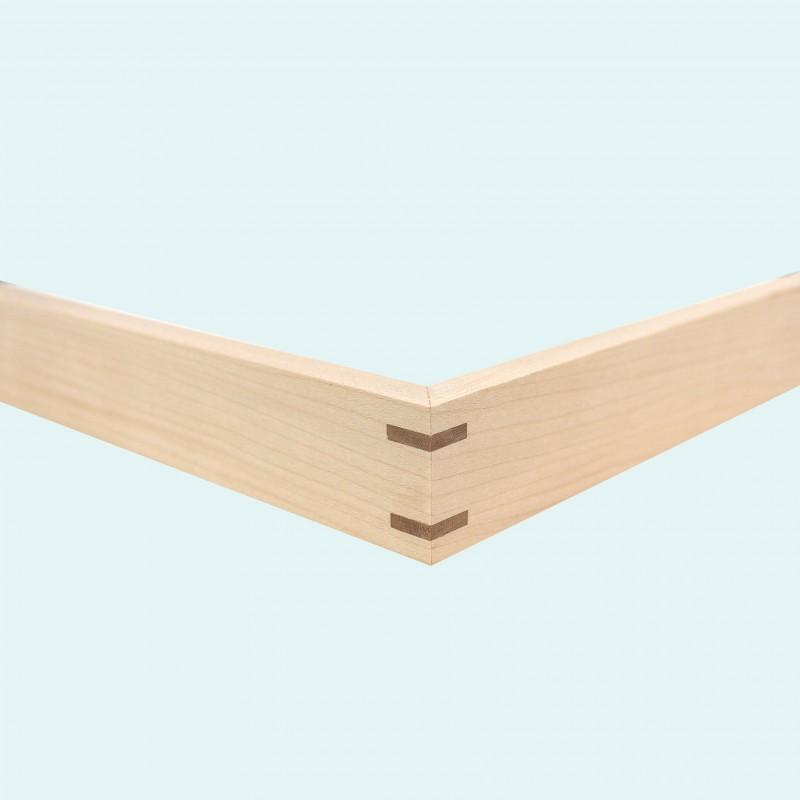 1032-3 Ahorn met walnoot hoek 3mm (N)
